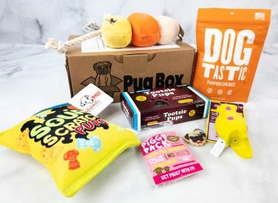 Pug Box September 2021 Subscription Box Review + Coupon